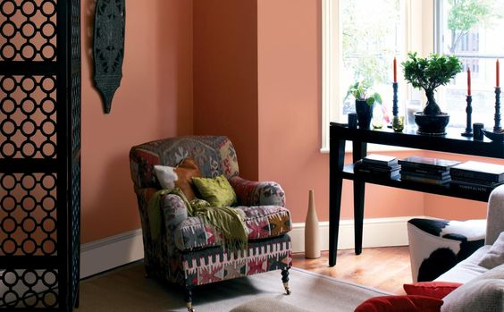 Décoration Salon couleur Pantone Earthy Orange