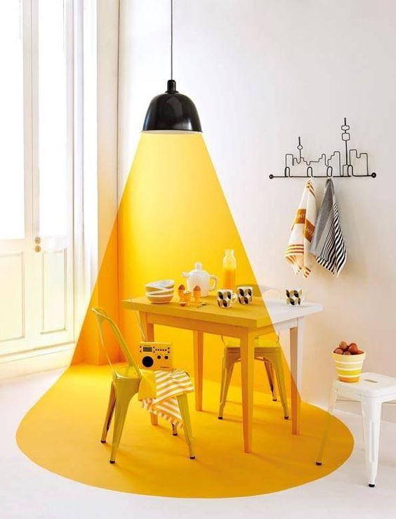 Cuisine colorée en jaune